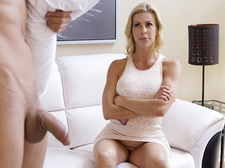 Busty housewife Alexis Fawx wakes her stepson..