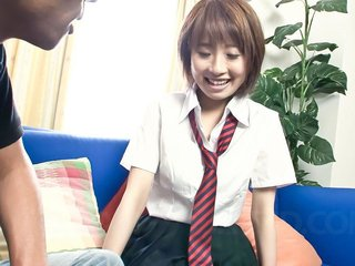 Schoolgirl Yui Misaki with her guy fucking like..