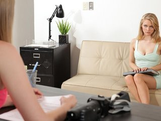 Sex kitten Alli Rae does her Nubiles interview..